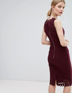 photo Cut Out Detail Bodycon Dress by Ted Baker, color Maroon - Image 2