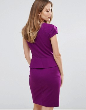 photo Structured Pencil Dress by Ted Baker, color Deep Purple - Image 2