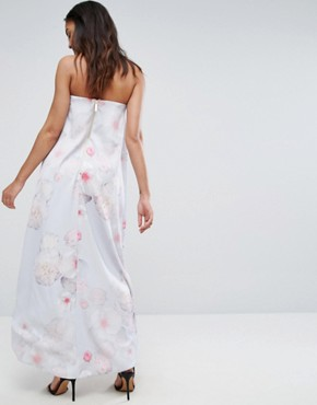 photo Strapless Gown by Ted Baker, color Light Grey - Image 2