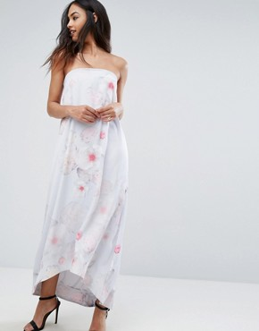 photo Strapless Gown by Ted Baker, color Light Grey - Image 1