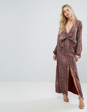 photo Redwood Maxi Dress by The Jetset Diaries, color Persian Stripe - Image 1