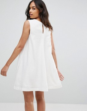 photo Trapeze Shift Dress by Tommy Hilfiger Denim, color Snow White - Image 2