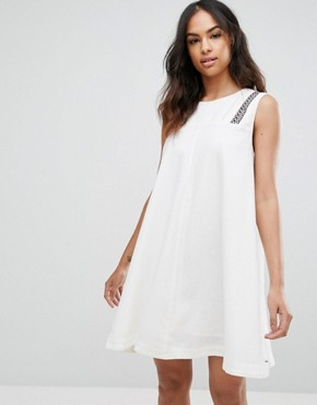 photo Trapeze Shift Dress by Tommy Hilfiger Denim, color Snow White - Image 1