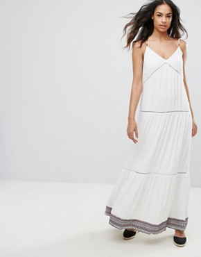 photo Strappy Maxi Dress by Tommy Hilfiger Denim, color Snow White - Image 1