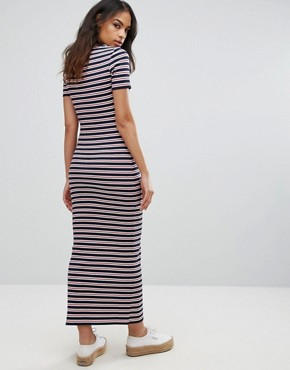 photo Striped Bodycon Midi Dress by Tommy Hilfiger Denim, color Dress Blues/Multi - Image 2