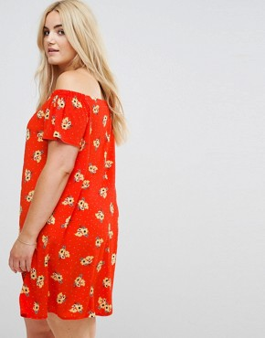 photo Bardot Dress by New Look Plus, color Red Pattern - Image 2
