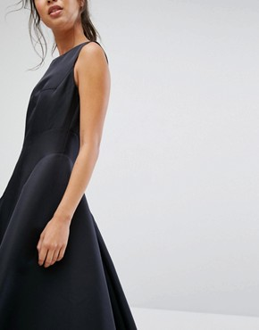 photo Fit and Flare Midi Dress with Seam Detail by Chi Chi London, color Black - Image 3