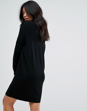 photo Long Sleeve Knitted Dress by JDY, color Black - Image 2