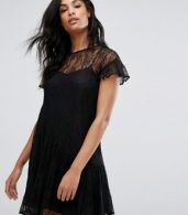photo Lace Cami Dress by Vero Moda, color Black - Image 1