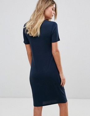 photo Short sleeve Drape Dress by Selected, color Blue - Image 2
