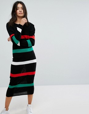 photo Relaxed Jumper Dress in Stripe by Daisy Street, color Multi - Image 1