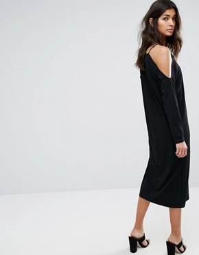 photo Off Shoulder Dress by Selected, color Black - Image 2