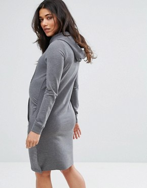 photo Sweater Dress by Mamalicious, color Grey - Image 2