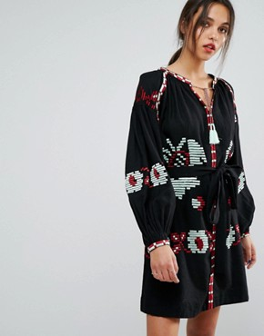 photo Ophism Long Sleeved Dress by Essentiel Antwerp, color Black - Image 1