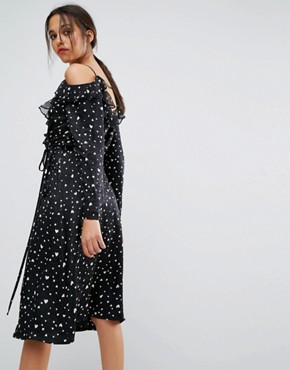 photo Oba Long Sleeved Dress by Essentiel Antwerp, color Black - Image 2