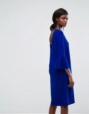 photo Ochet Ruffle Dress by Essentiel Antwerp, color Monaco Blue - Image 2