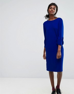photo Ochet Ruffle Dress by Essentiel Antwerp, color Monaco Blue - Image 1