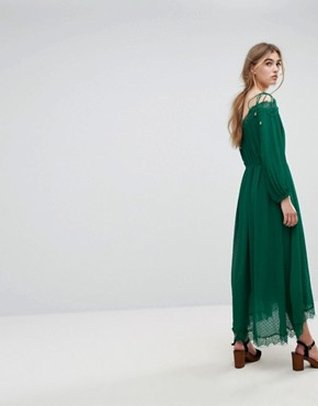 photo Oignons Dress by Essentiel Antwerp, color Amazon Green - Image 2