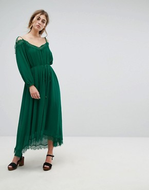photo Oignons Dress by Essentiel Antwerp, color Amazon Green - Image 1