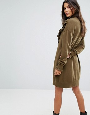 photo Jumper Dress with Ruffle Detail by Vero Moda, color Dark Olive - Image 2