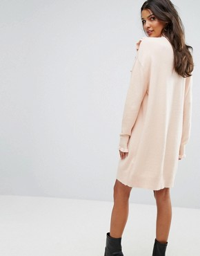 photo Jumper Dress with Ruffle Detail by Vero Moda, color Cream - Image 2
