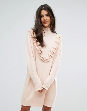 photo Jumper Dress with Ruffle Detail by Vero Moda, color Cream - Image 1