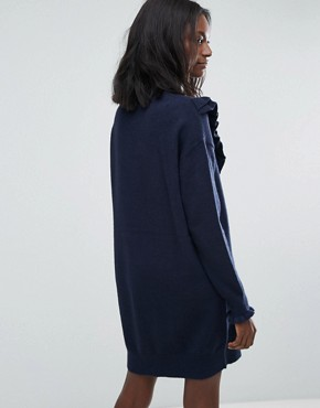 photo Jumper Dress with Ruffle Detail by Vero Moda, color Navy Blazer - Image 2