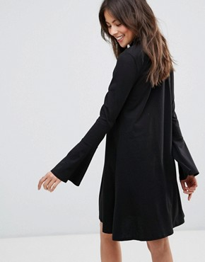 photo Swing Dress with Bell Sleeve Detail by Only, color Black - Image 2