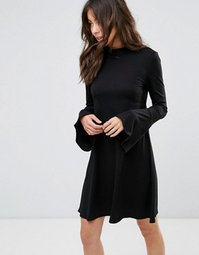 photo Swing Dress with Bell Sleeve Detail by Only, color Black - Image 1