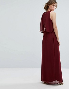 photo 2 in 1 Maxi Dress by Silver Bloom, color Burgundy - Image 2