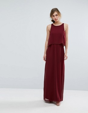 photo 2 in 1 Maxi Dress by Silver Bloom, color Burgundy - Image 1
