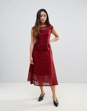 photo Garrie Sheer Midi Dress by Gestuz, color Apple Butter - Image 1