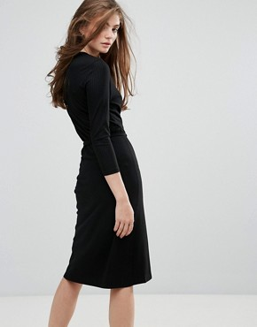 photo Falipa V-Neck Midi Dress by Gestuz, color Black - Image 2