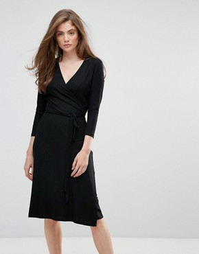 photo Falipa V-Neck Midi Dress by Gestuz, color Black - Image 1