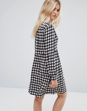 photo Dedica Gingham Shirt Dress by MAX&Co, color Powder Pink - Image 2