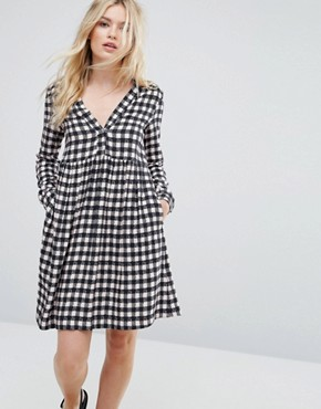 photo Dedica Gingham Shirt Dress by MAX&Co, color Powder Pink - Image 1
