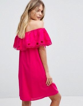 photo Bardot Double Frill Dress by New Look, color Pink - Image 2