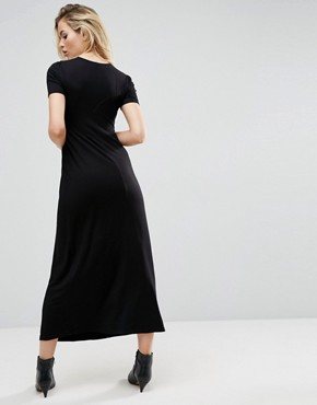 photo Maxi Tea Dress by ASOS ULTIMATE, color Black - Image 2