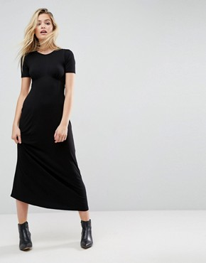 photo Maxi Tea Dress by ASOS ULTIMATE, color Black - Image 1