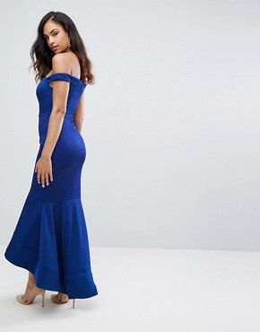photo Off Shoulder Sweetheart Maxi Dress by Bariano, color Rich Indigo - Image 2