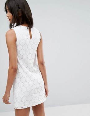photo Lace A-Line Mini Dress by Oasis, color Off White - Image 2
