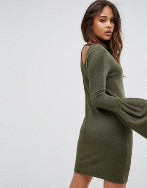 photo Bell Sleeve Jumper Dress by Vero Moda Tall, color Dark Olive - Image 2
