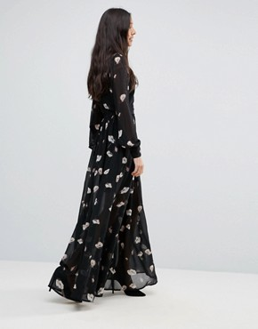 photo Floral Maxi Dress by Vero Moda Tall, color Black - Image 2