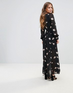 photo Floral Maxi Dress by Vero Moda Petite, color Black - Image 2