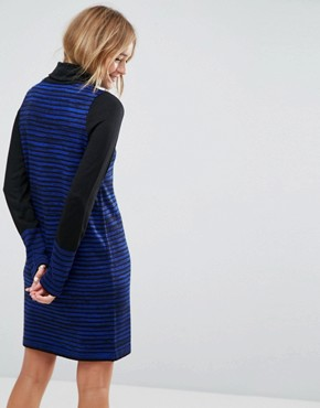 photo Knitted Mini Dress in Stripe by ASOS, color Cobalt - Image 2