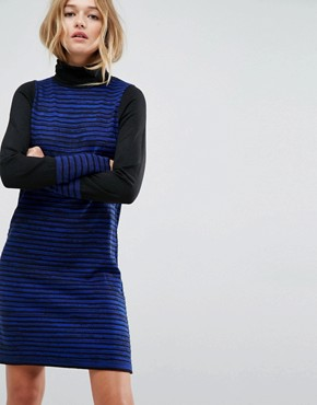 photo Knitted Mini Dress in Stripe by ASOS, color Cobalt - Image 1