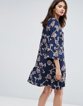photo Allover Floral Printed Shift Dress by Y.A.S Tall, color Multi - Image 2