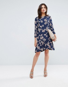 photo Allover Floral Printed Shift Dress by Y.A.S Tall, color Multi - Image 4