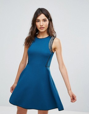 photo Skater Dress by Oeuvre, color Blue - Image 1
