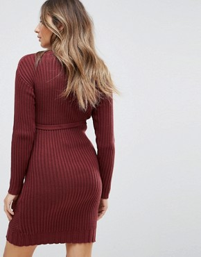 photo Knitted Dress by Mamalicious, color Zinfandel - Image 2